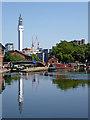 SP0686 : Cambrian Wharf moorings in Birmingham by Roger  Kidd