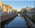 TL7106 : Chelmsford: the River Chelmer on a summer evening by John Sutton