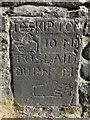SD7756 : Old milestone on Milking Gates Bridge, near Tosside by John S Turner