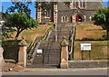 NT2540 : Steps at the Leckie Church, Peebles by Jim Barton