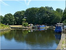 SE3419 : Old canal docks at Fall Ings by Alan Murray-Rust