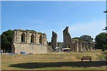 ST5038 : Grounds within the Glastonbury Abbey ruins by John C