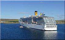 HU4841 : Costa Mediterranea visiting Lerwick by Andy Waddington