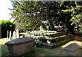 SO4107 : Medieval churchyard cross in St Cadoc's churchyard, Raglan by Jaggery