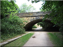 SK2268 : Monsal Trail: overbridge at Bakewell station site by Gareth James