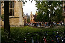 TL4458 : Cambridge: looking north from the Great Gate, Trinity College by Christopher Hilton