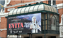 "J3373 : ""Evita"" poster, Belfast (July 2018) by Albert Bridge"