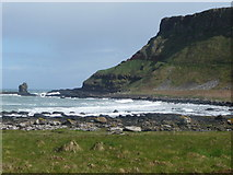 C9444 : View of headland from the path eastwards from Giant's Causeway by Humphrey Bolton