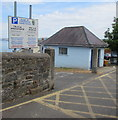SN3860 : Ceredigion County Council car park information board, High Street, New Quay by Jaggery