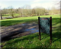 ST5190 : Walkers Beware notice at the edge of St Pierre golf course, Monmouthshire by Jaggery