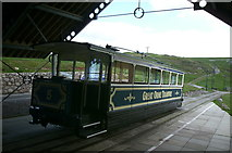 SH7783 : Mid-point Station, Great Orme Tramway by David Robinson