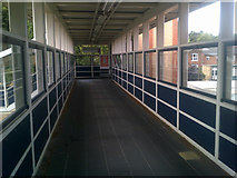 TM1543 : Walkway over the railway lines by Adrian Cable