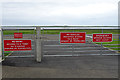 HY4552 : Airport Gate by Anne Burgess