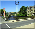 SE0523 : Bridge taking A58 over River Calder at Walton Street junction by Roger Templeman