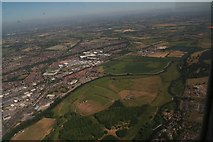 SK2524 : River Trent at Wetmore, Burton on Trent: aerial 2018 by Chris