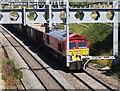 SU2688 : DB Cargo UK freight train on the GWR main line, Compton Beauchamp by Brian Robert Marshall