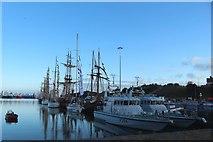 NZ4057 : Tall ships, Hudson Dock, Port of Sunderland by Graham Robson