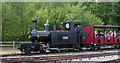 SJ8248 : Tracks to the Trenches - Hunslet No. 1215 by Chris Allen