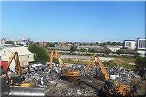 SJ8297 : Scrapyard by the Tramway by Des Blenkinsopp