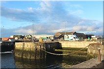 NZ4057 : Blocked up dock gate, Port of Sunderland by Graham Robson