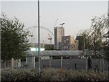 TQ1986 : Tower blocks by Wembley Stadium by David Howard