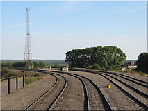 SE9108 : Railway lines at Scunthorpe Steelworks by Gareth James