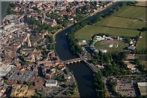 SO8454 : Worcester Bridge over the River Severn: aerial 2018 by Chris