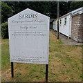 SO2605 : Sardis Congregational Chapel information board, Varteg by Jaggery