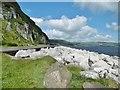 D3215 : Glenarm, sea defences by Mike Faherty