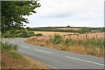SS6744 : A bend on the A39 near Parracombe by Martin Bodman