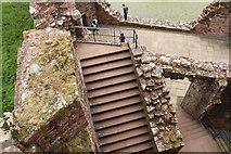 NY0265 : Stone Steps, Caerlaverock Castle by Billy McCrorie