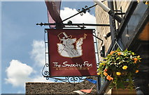 ST8993 : The Snooty Fox Sign, Tetbury, Gloucestershire 2015 by Ray Bird