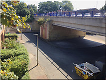 TQ3370 : Modern bridge carrying Farquhar Road, Upper Norwood, south London by Robin Stott