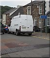 SO2603 : Blue direction sign alongside High Street, Abersychan by Jaggery