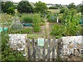 SY4889 : Allotments at Southover by Oliver Dixon