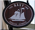 SX4854 : The Navy Inn name sign, Plymouth by Jaggery