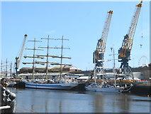 NZ4057 : Tall Ships on Corporation Quay by John M
