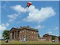 SO5063 : A kite over Berrington Hall, Herefordshire by Robin Drayton