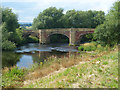SJ3845 : Bridge over the River Dee by Robin Drayton