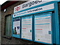 SO1500 : Information boards outside Bargoed railway station by Jaggery