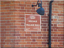 TM3864 : Kelsale Village Hall sign by Adrian Cable