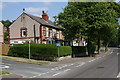 SE0624 : Junction of Rochdale Road and Woodland Drive by Roger Templeman
