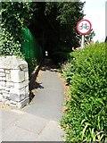 SO7845 : Alleyway to Barnard's Green Road by Philip Halling