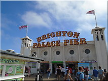 TQ3103 : Sign for Brighton Palace Pier by Paul Gillett