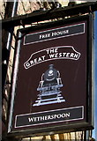 ST1875 : The Great Western name sign, St Mary Street, Cardiff by Jaggery
