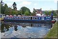 SJ2741 : A tight turn, Llangollen Canal, Froncysyllte by Robin Drayton