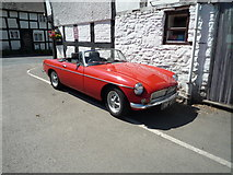 SO3958 : MGB Roadster at The Kings House (Pembridge) by Fabian Musto