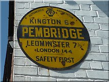 SO3958 : AA Sign at Pembridge by Fabian Musto