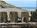 TG2838 : Sea defences on the beach at Beacon Hill : Week 30