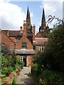 SK1109 : The spires of Lichfield Cathedral by Philip Halling